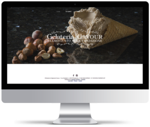 sito web per gelateria artigianale, Gelateria Cavour.